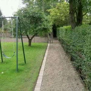 After new edgers fitted and resurfaced path