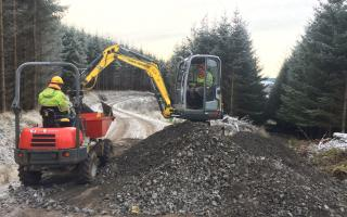 Ayton Hill remote working dumper and digger