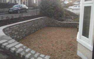 Curved front garden wall