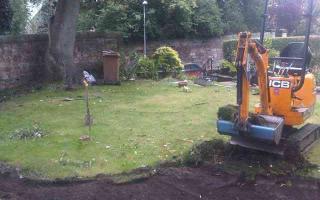 Digging path base