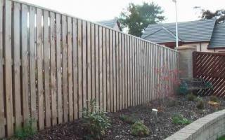 Double-side palisade board fence