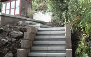 Granite steps bottom section
