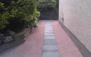 Gravel and paved path