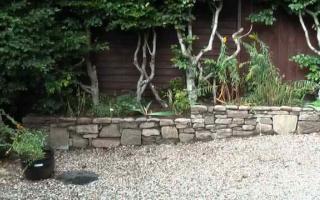 Small garden drystone wall